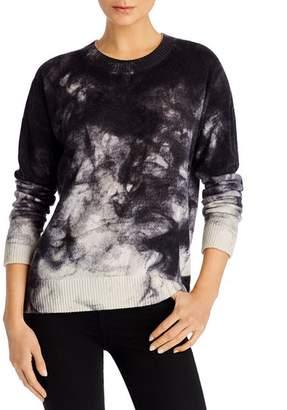 Minnie Rose Bleach-Pattern Cashmere Sweater
