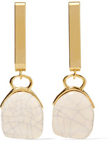 Isabel Marant Gold-tone Ceramic Earrings - one size