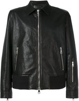 Neil Barrett zip detail leather jacket