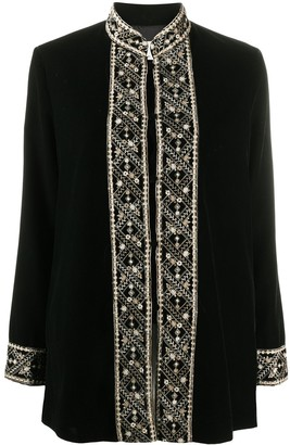 L'Autre Chose Embroidered Fitted Jacket
