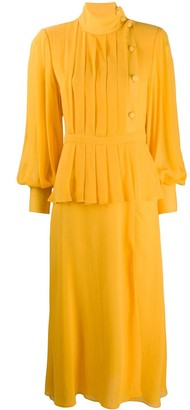 Alessandra Rich Layered Pleated Dress