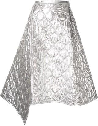 Juun.J Diamond Panelled Asymmetric Skirt