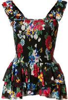 Piamita Luna Ruched Babydoll blouse - women - Polyester/Silk - XS