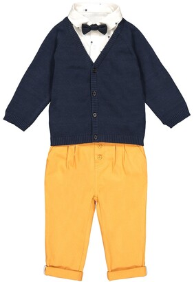 La Redoute Collections Trousers, Cardigan and Shirt Outfit, 3 Months-3 Years