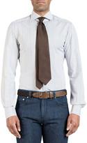Isaia Men's Two-Tone Check Dress Shirt