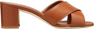 Manolo Blahnik Ottawi Crisscross Slide Heeled Sandal