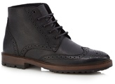 Red Herring Black Perforated Chukka Boots