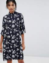 Just Female Hamie Print High Neck Loose Dress