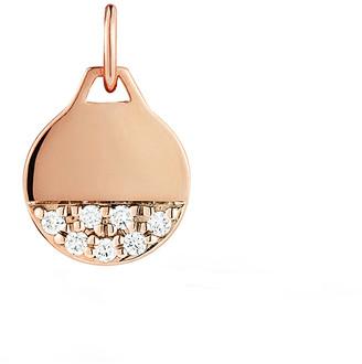 Walters Faith Dora Gold and Diamond Mini Round Disc Charm - Rose Gold