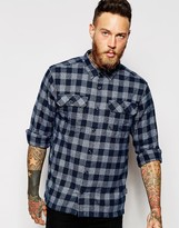 Patagonia Shirt With Flannel Check Relaxed Fit - Blue