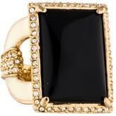 Rachel Zoe Jet Crystal Cocktail Ring