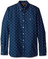 Jack Spade Men's Long Sleeve Diamond Quad Print Shirt