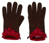 Moschino Knit Logo Gloves