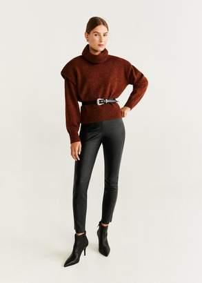 MANGO Contrast seam pants black - S - Women