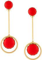 Tory Burch linear stone statement earrings
