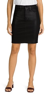 Jen7 by 7 for All Mankind Coated Denim Pencil Skirt