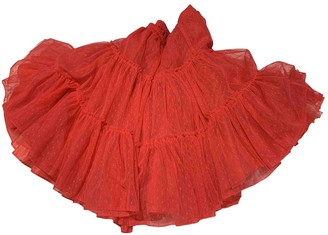 Lili Gaufrette Pink Synthetic Skirts
