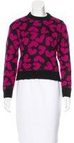 Saint Laurent Mohair Heart Sweater