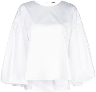 Adam Lippes Shirred Back Blouse