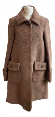 Orla Kiely Brown Wool Coats