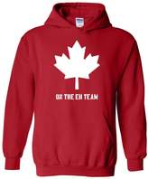 Ugo On the EH Team in White Canada Maple Canadian Vancouver Tour Map Flag Gift Unisex Hoodie Sweatshirt