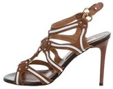 Just Cavalli Leather Cage Sandals