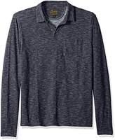 Lucky Brand Men's Long Sleeve Johnny Collar Polo Shirt