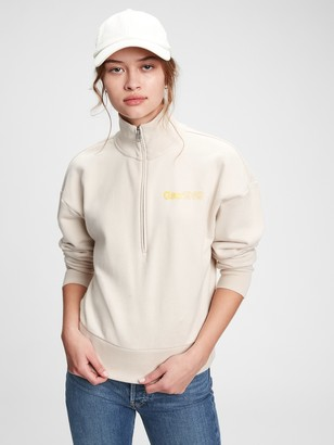 Gap Vintage Soft Logo Shrunken Half-Zip Sweatshirt