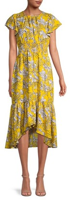 Walter Baker Ali Floral High-Low Dress