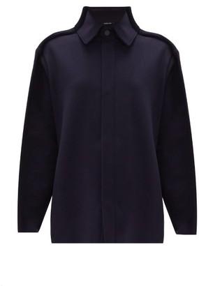 Maison Margiela Stitched-seam Wool-blend Jacket - Womens - Navy