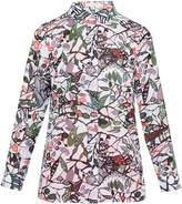 Ted Baker Lupia Peter Pan collar floral print shirt