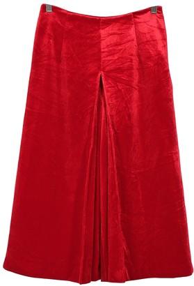 Saint Laurent Red Velvet Trousers