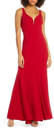 Lulus Aperitif Crepe Mermaid Gown