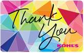 Kohl's Thank You Gift Card