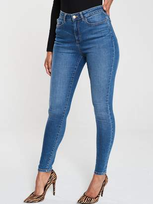 Very Short Florence High Rise Skinny Jeans - Mid Wash