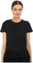 Kate Spade Dot Eyelet Inset Tee Women's T Shirt