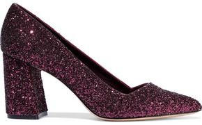 Alice + Olivia Demetra Glittered Woven Pumps