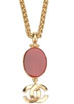 Chanel logo pendant necklace