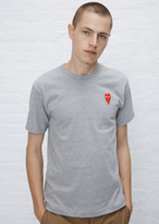 Comme des Garcons grey long heart t-shirt