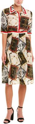 BURRYCO Silk A-Line Dress