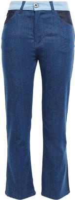 Victoria Victoria Beckham Victoria, Victoria Beckham Paneled High-rise Kick-flare Jeans