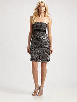 Sue Wong Sequin & Velvet Dress