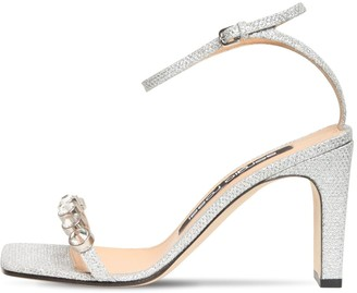 Sergio Rossi 85mm Embellished Lurex Sandals