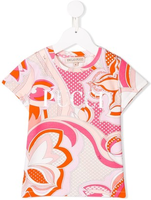 Emilio Pucci Junior floral print T-shirt