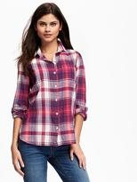 Old Navy Classic Flannel Shirt for Women
