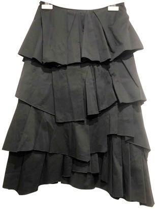 Cédric Charlier Black Cotton Skirt for Women