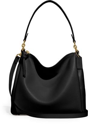 Coach Shay Black Leather Shoulder Bag