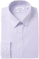 Calvin Klein Slim Fit Grid Print Dress Shirt