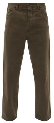 Acne Studios Aleq Cotton Straight-leg Trousers - Dark Brown