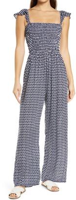 Tiare Hawaii Francine Polka Dot Cover-Up Jumpsuit